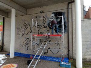 Volunteers on Murals4Change Destelbergen