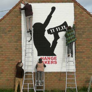 Volunteers on Murals4Change Kortemark