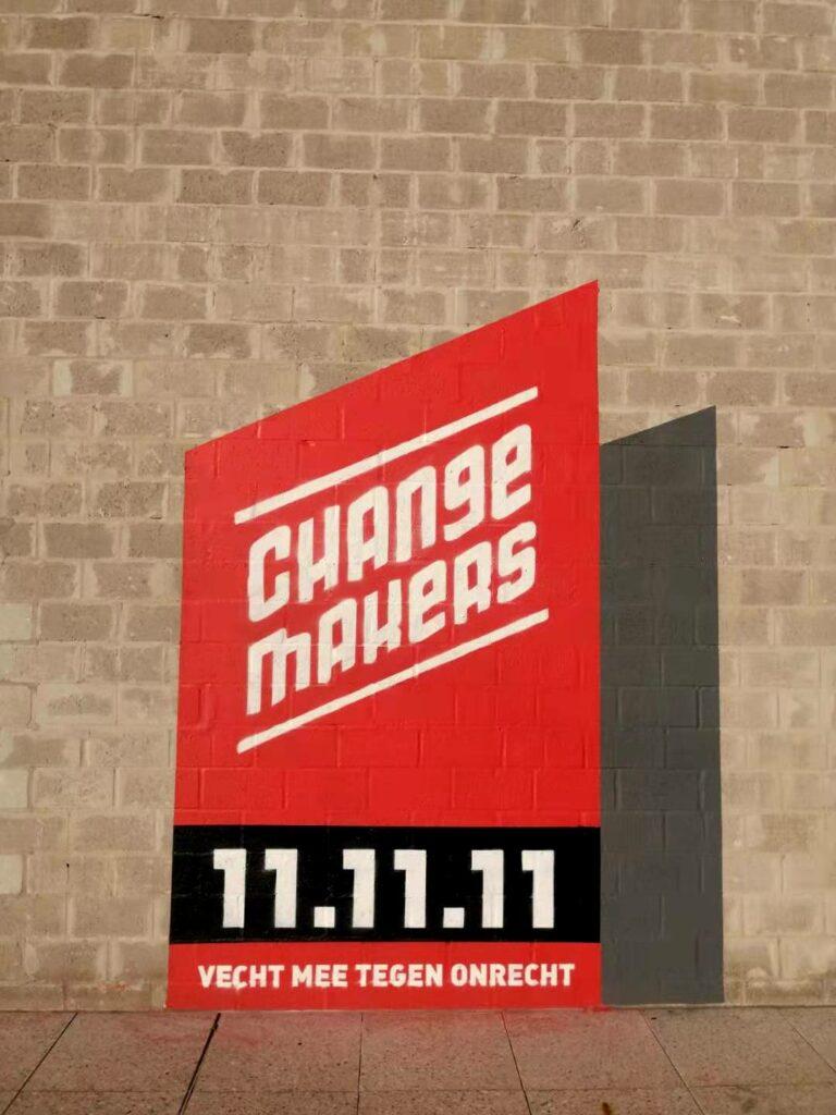 Changemakers Logo Mural Kortrijk